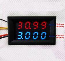 DC Combo Meter Dual Voltmeter Ammeter 0-33V 0-999.9mA 1A 2A 3A High Precision GZ