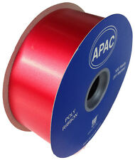 "FLORIST POLY TEAR RIBBON - 100 YARDS - 2"" WIDE - RED"