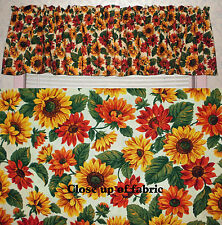 New Sunflowers Flowers Country Kitchen Valances Curtain
