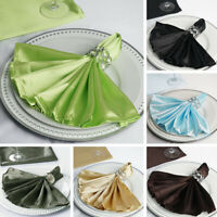 """25 Silky SATIN 20x20"""" Wedding NAPKINS Party Table Linens Catering Decorations"""