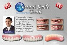 COMPLETE SET OF VENEERS TOP & BOTTOM INSTANT SMILE BEAUTIFUL TEETH W FREE CASE
