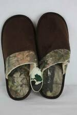 NEW Mens Slippers Medium Mossy Oak Camouflage Scuffs House Shoes In/Out Sole