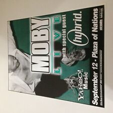 """Moby & Hybrid 9/12/2000 Vancouver BC Canada 18"""" x 24"""" Concert Poster! Play Tour!"""