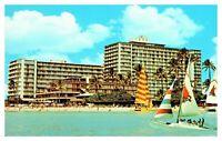 The Reef Hotel Waikiki Beach Hawaii Old Vintage Unposted Chrome Postcard F8