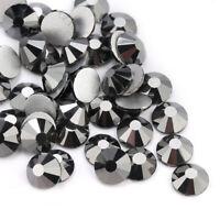 1440p Jet Hematite Nail Art Rhinestones Flatback Glitter 3D Tips DIY Decoration