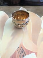 English London Hallmarked Sterling Silver Gilt Beaker Shot Cup Hand Wrought