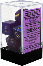 Chessex Borealis Royal Purple w/ Gold Polyhedral 7 Dice Set CHX27467