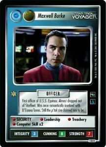 Star Trek CCG VOY Voyager Maxwell Burke (Federation) 126R