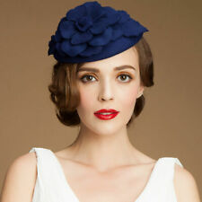 380772dc A083 Womens 1920s Gatsby Style Fascinator Wool Cocktail Hat Beret Race  Wedding