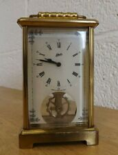 Vintage German Schatz & Sohne Working Wind-Up Brass Carriage Clock. (Hospiscare)