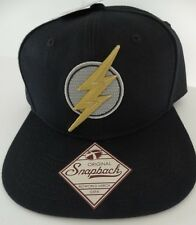 The Flash Embroidered Logo Justice League DC Comics Snap Back Black Hat Nwt