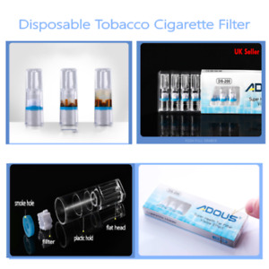 100Pcs Disposable  Cigarette Filter Smoking Reduce Tar Filtration Cleaning