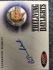 James Bond 50th Anniversary Series One Catherine Rabett Autograph Card A168
