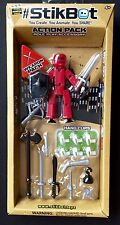 Zing Stikbot Action Pack Red Weapon Pack With Black Shield Role Play Accessory