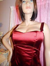 NWT BEBE Tiana beautiful Red Stretch Satin Stitch Cocktail Holiday Dress Size M
