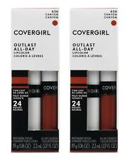 2 X COVERGIRL Pk2 Outlast All-day Lipcolor 626 Canyon