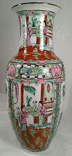 "Japanese Porcelain Ware ACF Hong Kong 14 & 1/4"" Rose Medallion Vase"