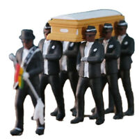 8pcs/set Blacks Carry The Coffin Team Figure 10cm Action Figure Collection Toys