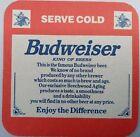 alter Bierdeckel BUDWEISER BEER 🍺  INT-CZ-12-3
