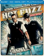 HOT FUZZ New Sealed Blu-ray + DVD Limited Edition Steelbook Packaging