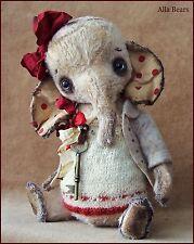 Alla Bears artist Old Elephant heart love red toy Christmas joy