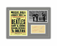 The Beatles Concert Poster and Autographs Memorabilia Poster 1962