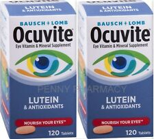 B&L Ocuvite Eye Vitamin w/ Lutein 120 Tablets  ( 2 pack ) ***