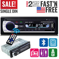 Car Stereo Receiver Radio Bluetooth In Dash 1 Single Din MP3 USB AUX FM Player