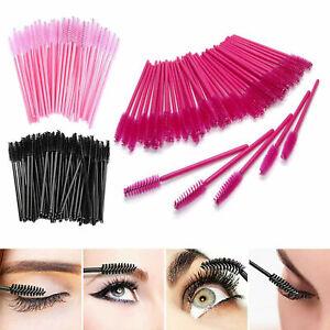 100x Disposable Mascara Wands Eyelash Eyebrow Brushes Lash Extension Applicator