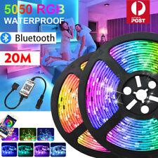 RGB LED Strip Lights IP65 Waterproof 5050 5M 300 LEDs 12V+Bluetooth Controller