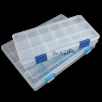 Fishing Tackle Box Lure Bait Hook Storage Compartment Case Waterproof Adjustable