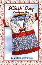 WASH DAY CLOTHESPIN BAG SEWING PATTERN, From Needlings, Inc. NEW