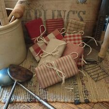 Homespun Fabric Samplers~Barn Red Collection~Prims~Plaids~Checks~Stripes~Solids