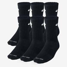 3 Pair BLACK NIKE CREW SOCKS Size L Shoe size 8-12 DRI-FIT! MEN'S WOMEN'S WOW!