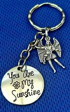 """""""You Are My Sunshine"""" + """"Your Guardian Angel"""" Keyring/Bag/Mobile/Purse Charms"""