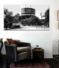 Historic WRIGLEY FIELD Chicago Cubs Canvas Print - Large 36 x 20 Addison and Cl