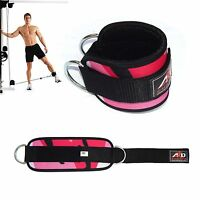 Gym Exercise Ankle Strap Weight Lifting Fitness D Ring Cable Attachment-Pnk Camo