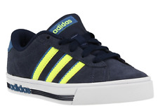 adidas Daily Team K Older Kids Youth UK 2 EU 34 Navy & Yellow Suede Trainers