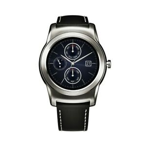 LG W150 Urbane Stainless Steel Mens Smartwatch 46mm Android Excellent Condition