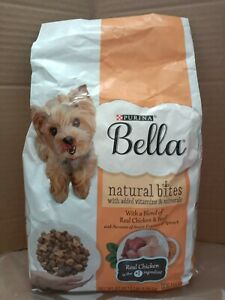 PURINA BELLA NATURAL BITES, REAL CHICKEN, BEEF & MINERALS Dry DOG Food 3 lb. Bag