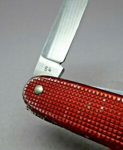 1964 Wenger Delemont 93mm model 1961 Red Alox Soldier Swiss Army Knife