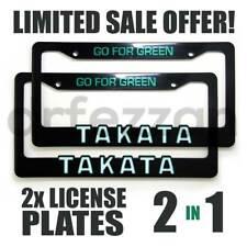TAKATA Go for Green JDM Racing Drift Stance Seat Belt License Plate Frame