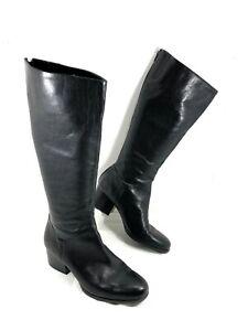 NEW Women's Born Black leather Knee High Boots Sz 10 M