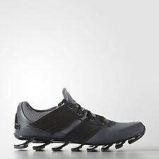 Adidas Mens Black Grey Springblade Solyce Running Shoes Trainers