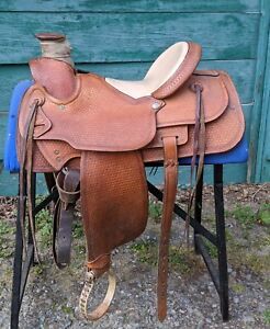 Dale Fredericks Wade Tree Ranch/Roping Saddle Basket Stamp – 15.5 Seat