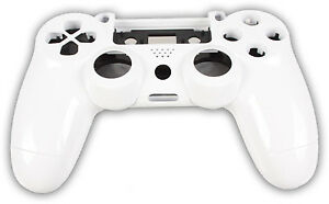 Für Playstation PS4 Controller Case Hülle Gehäuse Chrome Modding Cover Weiß
