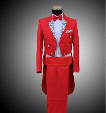 01 Fashion Hot Mens Wedding Tuxedo SUIT&PANTS Show Dance Tail Coat Trouse Party