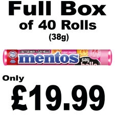 Full Box of 40 Rolls Mentos Fruits Stick Chewy Sweets 38g Free P&P Only £19.99