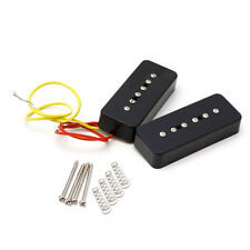 1 SET BLACK PICKUPS SOAP BAR FOR FACILITATED INSTALLATION P90 LP ELECTRIC GUITAR