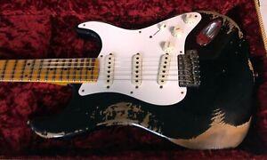 2021 Fender 57 Stratocaster Heavy Relic - Aged Black - 7.6 lbs Strat Custom Shop
